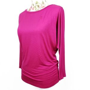 Ralph Lauren sport long sleeve loose fit pink top